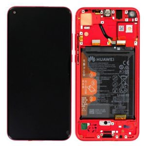 Genuine Huawei Honor View 20 LCD Screen and Digitizer Red plus Battery