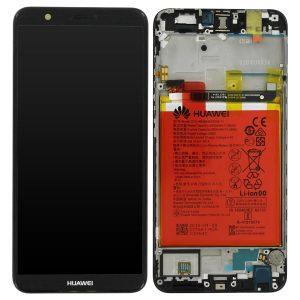 Genuine Huawei P Smart LCD Screen and Digitizer Black plus Battery