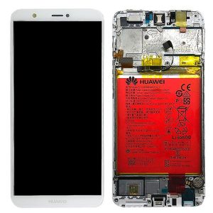 Genuine Huawei P Smart LCD Screen and Digitizer White plus Battery