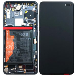 Genuine Huawei P40 LCD Screen and Digitizer Black plus Battery / Part Number / MPN: 02353MFA | Delivered in EU UK and rest of the world |
