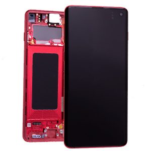 Genuine Samsung Galaxy S10 Plus G975 LCD Screen with Digitizer Cardinal Red