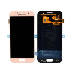 Genuine Samsung Galaxy A7 2017 A720 LCD Screen Digitizer Pink / MPN: GH97-19723D/19811D Color: Pink delivered in UK, EU and the rest of the world.