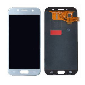 Genuine Samsung Galaxy A7 2017 A720 LCD Screen Digitizer Blue/ MPN: GH97-19723C/19811C / Color: Blue delivered in UK, EU and the rest of the world.