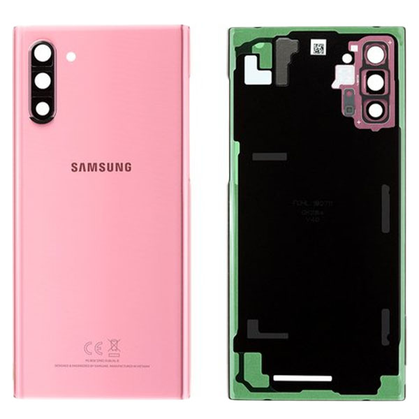 Genuine Samsung Galaxy Note 10 N970 Battery Back Cover Aura Pink