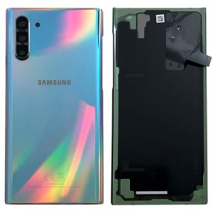 Genuine Samsung Galaxy Note 10 N970 Battery Back Cover Aura Glow / Silver