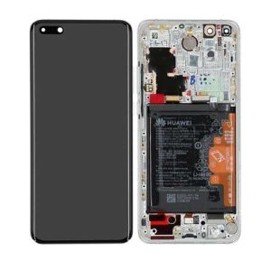 Genuine Huawei P40 Pro LCD Display Screen Touch Battery Assembly Ice White/ Part number : 02353PJK/ Color : Ice White / Delivered in EU /