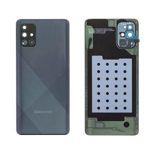 Genuine A715 Samsung Galaxy A71 Battery Back Cover Black