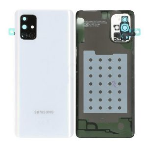 Genuine A715 Samsung Galaxy A71 Battery Back Cover Silver