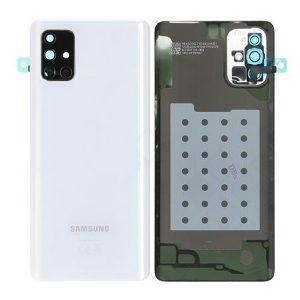 Genuine A715 Samsung Galaxy A71 Battery Back Cover Silver
