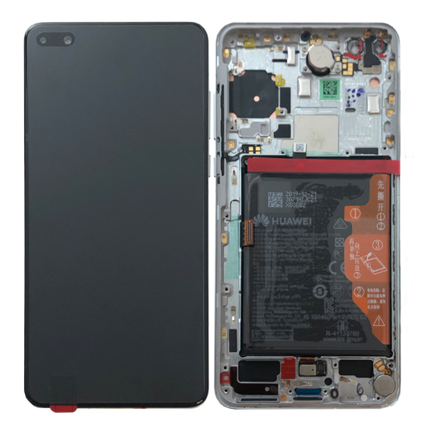 Genuine Huawei P40 LCD Display Screen Touch Battery Assembly Ice White