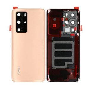 enuine Huawei P40 Pro Battery Back Cover Blush Gold