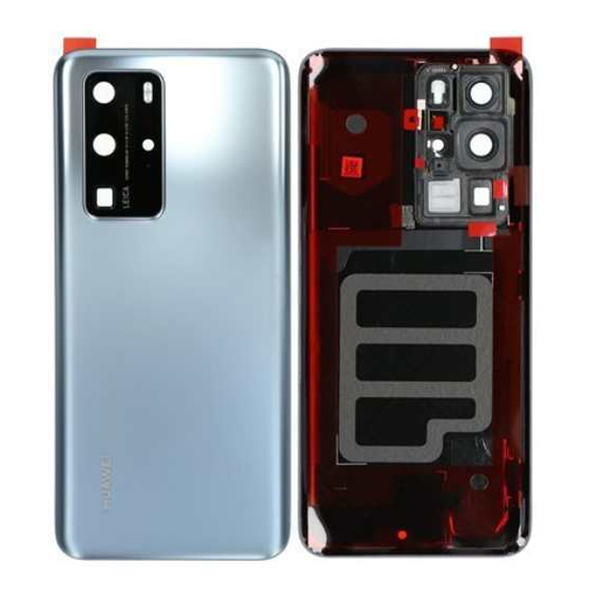 Genuine Huawei P40 Pro Battery Back Cover Silver Frost