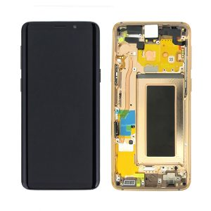 Genuine G960 Samsung Galaxy LCD Display / Screen + Touch - Gold