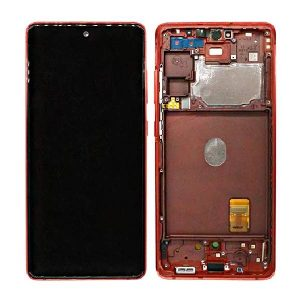 Genuine Samsung Galaxy S20 FE 5G G781 Super Amoled Display Screen Touch Cloud Red/ Colour : Cloud Red/ Delivered in EU and UK.