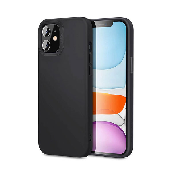 iPhone 12 Mini ESR Cloud Silicone Case Black - Phoneparts
