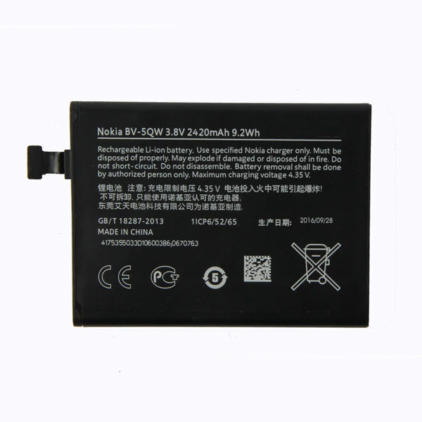 Nokia Lumia 930 Internal Battery | Part Number: BV-5QW | Delivered in EU UK and rest of the world - Phoneparts
