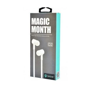 Celebrat D2 Magic Month Stereo Earphones With Mic | Colour: White | Delivered in EU Uk and rest of the world | Phoneparts |