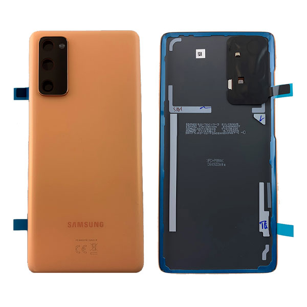 Genuine Samsung Galaxy S20 FE 4G Battery Back Cover Cloud Orange | Part Number : GH82-24263F | Delivered in EU UK and rest of the world .