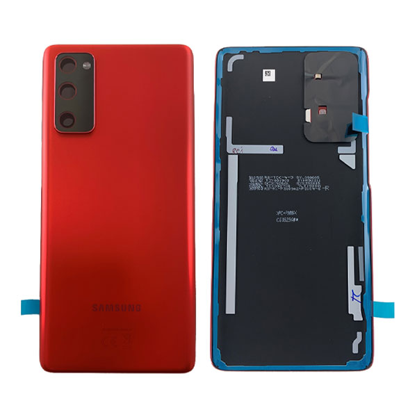 Genuine Samsung Galaxy S20 FE 5G Battery Back Cover Cloud Red   Part Number: GH82-24223E   Delivered in EU UK and rest of the world.
