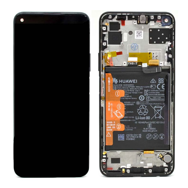 Genuine Huawei P40 Lite 5G LCD Plus Battery Midnight Black | Part Number: 02353SUN | Delivered in EU UK and rest of the world |