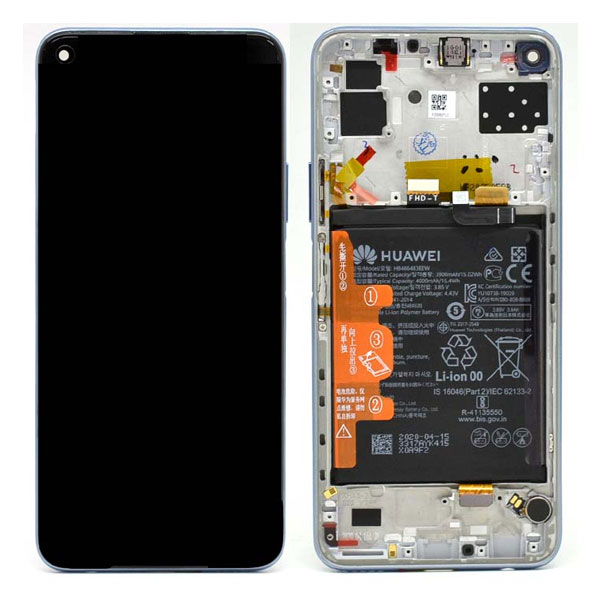 Genuine Huawei P40 Lite 5G LCD Display Plus Battery Silver | Part Number: 02353SUQ | Delivered in EU UK and rest of the world |