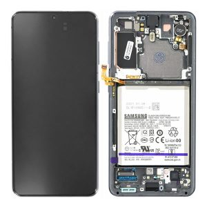 Genuine Samsung Galaxy S21 5G LCD Display With Battery Phantom Grey | Part Number: GH82-24716A | Delivered in EU UK and rest of the world |