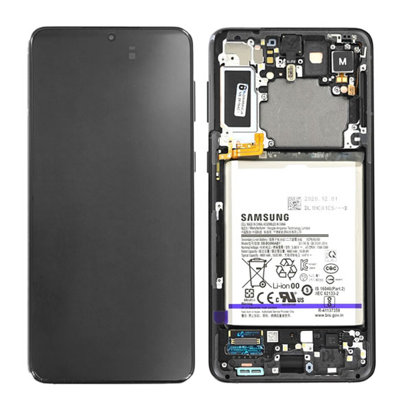 Genuine Samsung Galaxy S21 Plus 5G LCD Display With Battery Phantom Black   Part Number: GH82-24555A   Phoneparts  