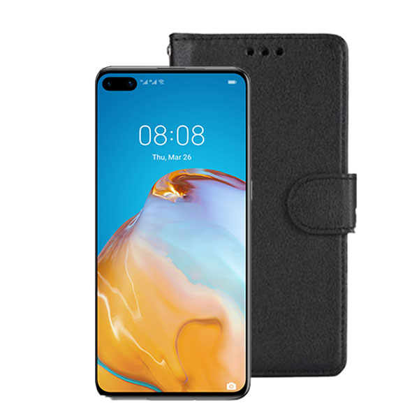 Wallet Flip Case for Huawei P40 | Colour: Black | Delivered in EU UK and rest of the world | Phoneparts Europe |