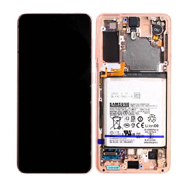 Genuine Samsung Galaxy S21 5G LCD Display With Battery Phantom Pink | Part Number: GH82-24716D| Delivered in EU UK and rest of the world |
