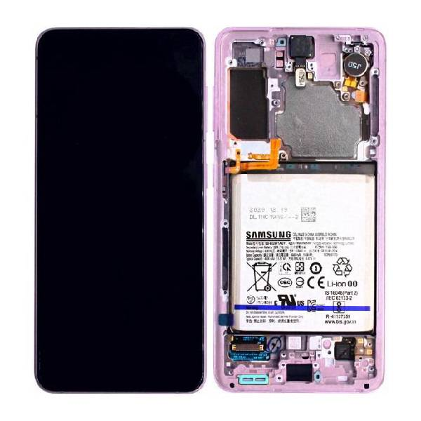 Genuine Samsung Galaxy S21 5G LCD Display With Battery Phantom Violet | Part Number: GH82-24716B | Delivered in EU UK and rest of the world |