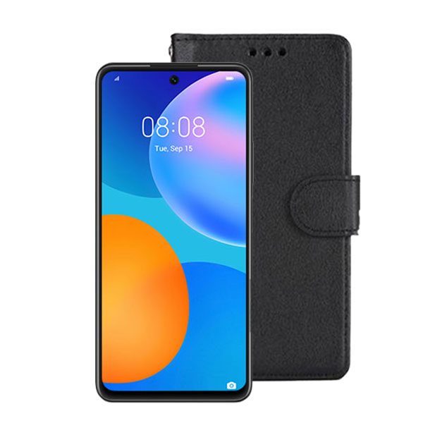 Wallet Flip Case For Huawei P Smart 2021 | Colour: Black | Delivered in EU Uk and rest of the world | Phoneparts |