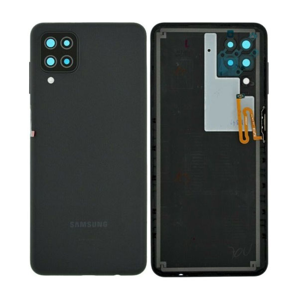 Genuine Samsung Galaxy A125 A12 Battery Back Cover Black | Part Number : GH82-24487A| Delivered in EU UK and rest of the world |