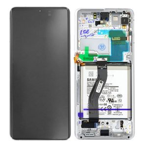 Genuine Samsung Galaxy S21 Ultra 5G Dynamic Amoled Display and Battery Phantom Silver | Part Number: GH82-24591B | Phoneparts |
