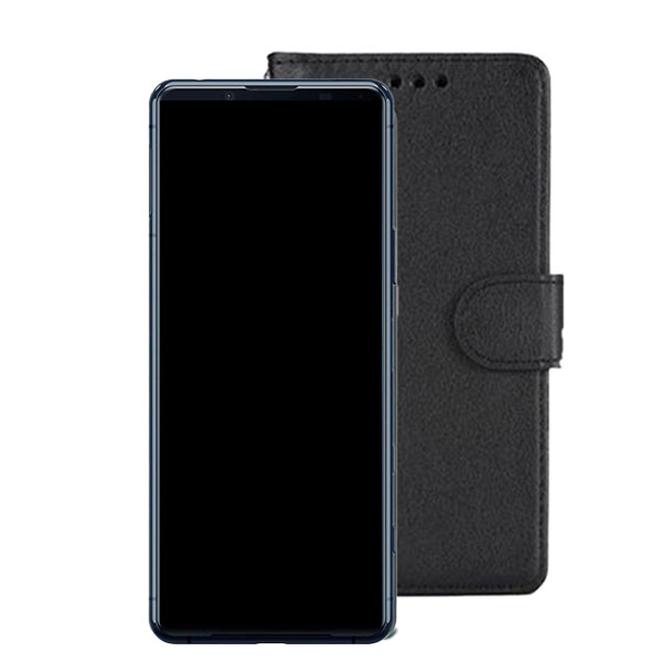 Wallet Flip Case for Sony Xperia 5 II Colour: Black   Delivered in EU UK and rest of the world   Phoneparts  