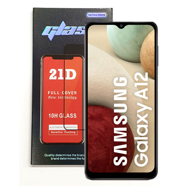 Samsung Galaxy A12 5G Full Glue 21D Tempered Glass   Delivered in EU UK and rest of the world   Phoneparts  