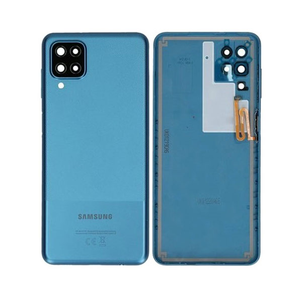 Genuine Samsung Galaxy A12 A125 Battery Back Cover Blue   Part Number: GH82-24487C   Delivered in EU UK and rest of the world  
