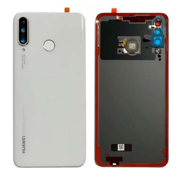 Genuine Huawei P30 Lite Battery Back Cover With Finger Print Sensor Pearl White   Part Number: 02352RQB   Delivered in EU UK  