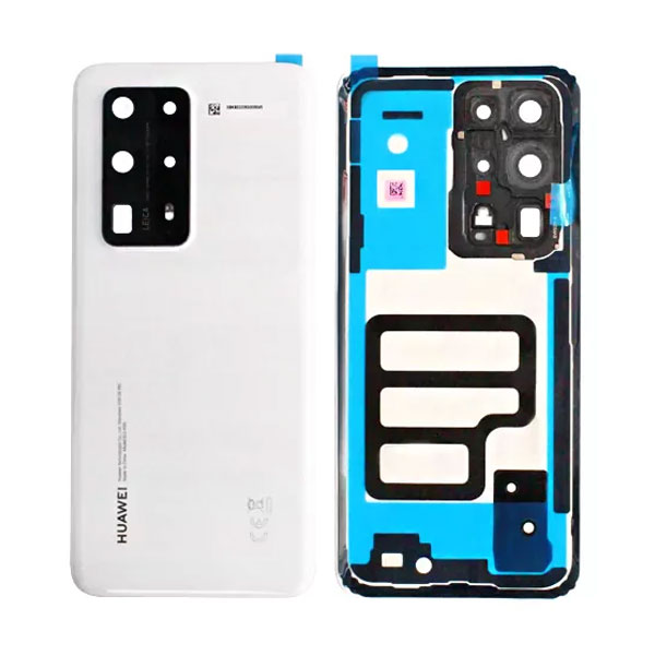 Genuine Huawei P40 Pro Plus Battery Back Cover White   Part Number: 02353SKS   Delivered in EU UK and rest of the world  