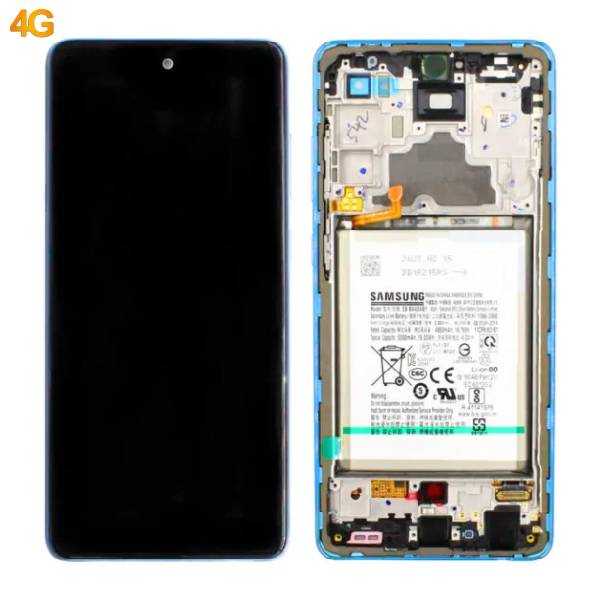 Genuine Samsung Galaxy A72 4G Super Amoled Display With Battery Blue | Part Number: GH82-25542B | Delivered in EU UK and rest of the world |