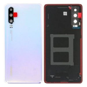 Genuine Huawei P30 Battery Back Cover Breathing Crystal / Part Number / MPN: 02352NMP / Color: Black, delivered in UK, EU and the rest of the world.