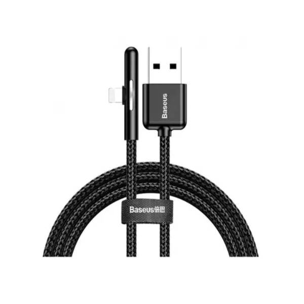 T-shaped Mobile Game Charging Cable USB For Lightning 2.4A 1M Black   Product Code: CAL7C-A01   Delivered in EU UK and the USA  