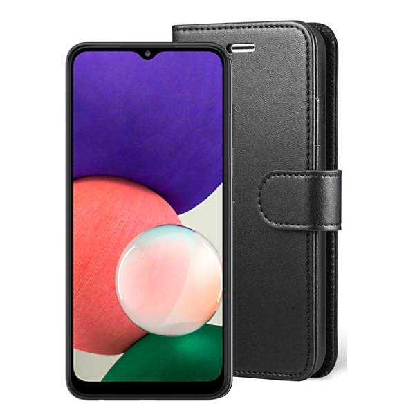 Wallet Flip Case For Samsung Galaxy A22 5G A226 Black | Price: £2.99 | In Stock | Phoneparts | Delivered in EU UK And rest of the world |