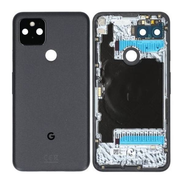 Genuine Google Pixel 5 Battery Back Cover Black   Part Number: G949-00095-01   Price: £68.99   In Stock   Phoneparts  
