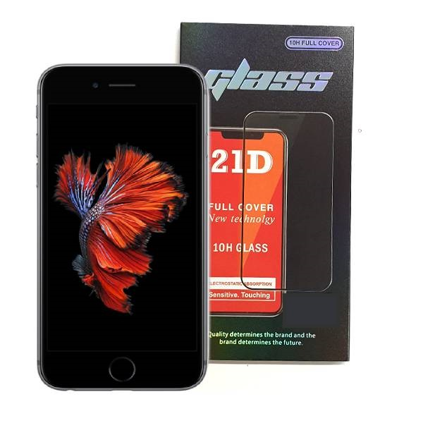 iPhone 6 6S Full Glue 21D Tempered Glass Screen Protector