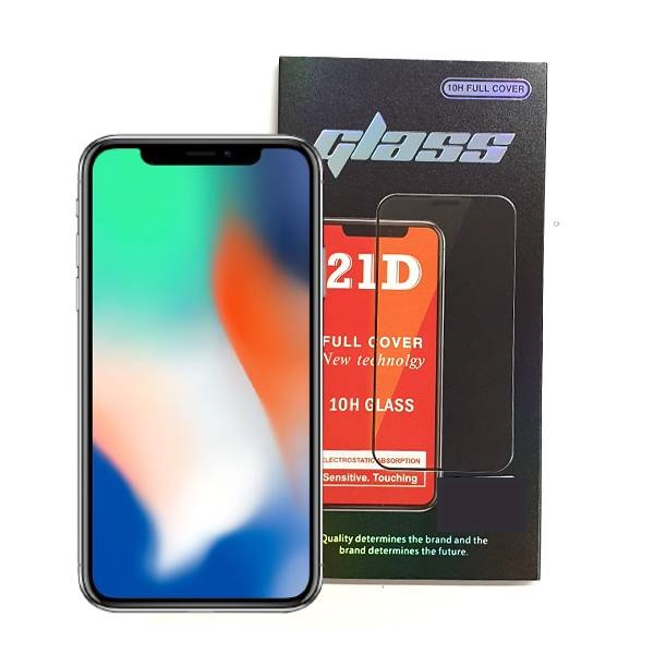 iPhone X XS Full Glue 21D Tempered Glass Screen Protector
