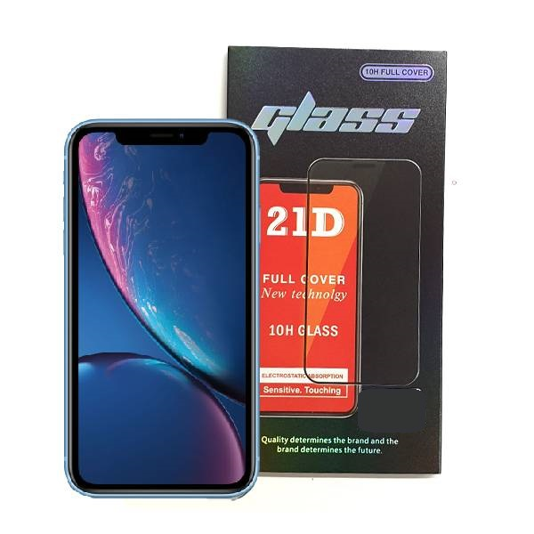 iPhone XR Full Glue 21D Tempered Glass Screen Protector